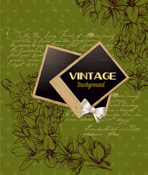 vintage vector illustration with floral elements 2015 05 05 479