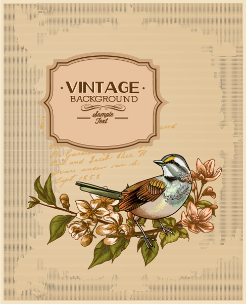 vintage vector illustration with spring flower Vector Illustrations [tag]