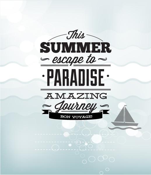 Summer Vector  Illustration with sailing ship 2015 05 05 502