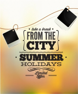 Summer Vector  Illustration with photo frame Vector Illustrations [tag]