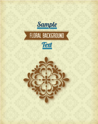 floral background vector illustration with retro ribbon Vector Illustrations floral