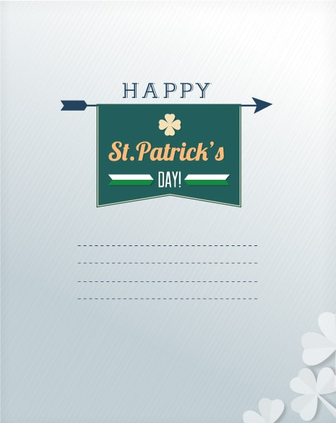 St. Patrick's day vector illustration with clover 2015 05 05 563