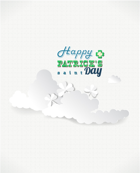 St. Patrick's day vector illustration with clouds 2015 05 05 564