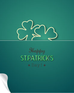 St. Patrick's day vector illustration with sticker clover Vector Illustrations vector