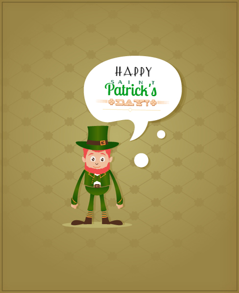 St. Patrick's day vector illustration with leprechaun and clover Vector Illustrations vector