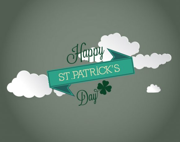 St. Patrick's day vector illustration with clouds 2015 05 05 572