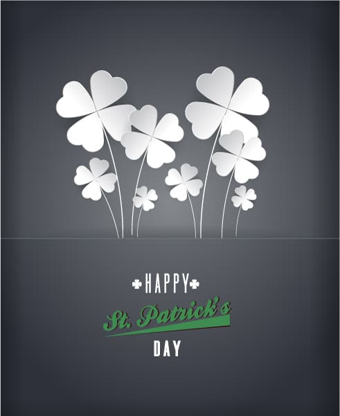 St. Patrick's day vector illustration with clover 2015 05 05 574