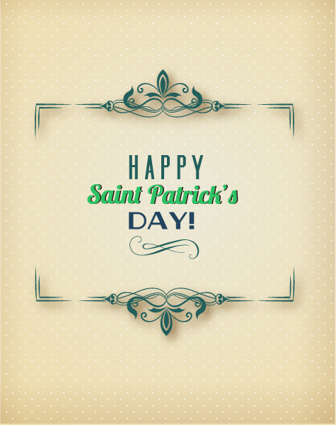 St. Patrick's day vector illustration with floral frame Vector Illustrations vector