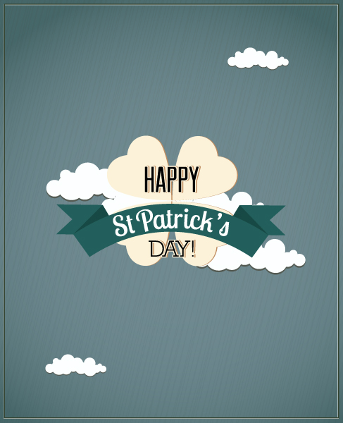 St. Patrick's day vector illustration with clover Vector Illustrations [tag]