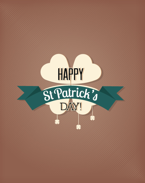 St. Patrick's day vector illustration with clover 2015 05 05 582