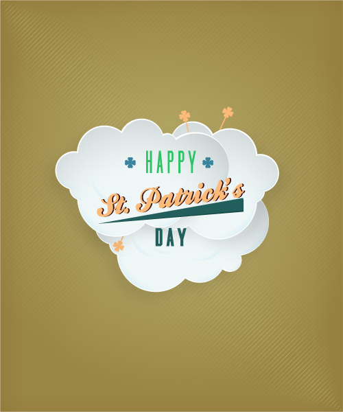 St. Patrick's day vector illustration with clouds Vector Illustrations vector