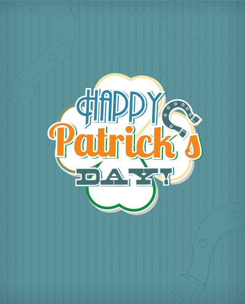 St. Patrick's day vector illustration with clover 2015 05 05 586