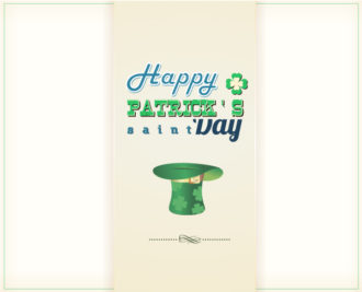 St. Patrick's day vector illustration with green hat Vector Illustrations vector