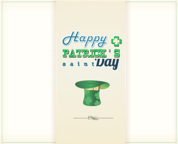 St. Patrick's day vector illustration with green hat 2015 05 05 587