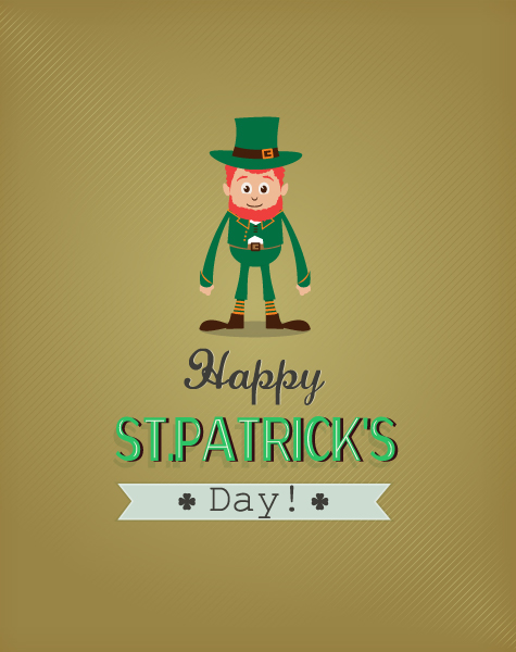 St. Patrick's day vector illustration with leprechaun 2015 05 05 591