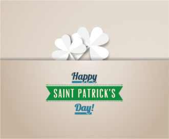 St. Patrick's day vector illustration with clover and ribbon Vector Illustrations vector
