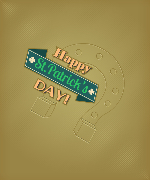 St. Patrick's day vector illustration with horse shoes 2015 05 05 596