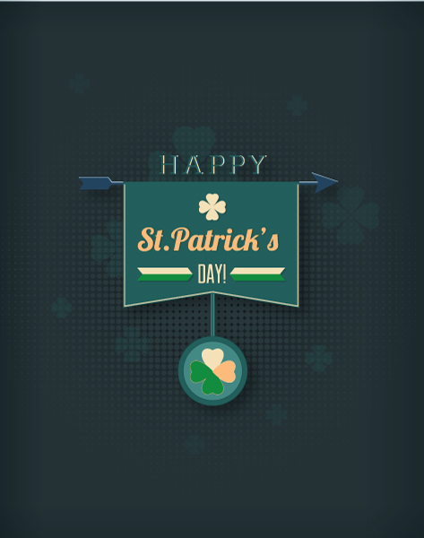 St. Patrick's day vector illustration with clover 2015 05 05 600