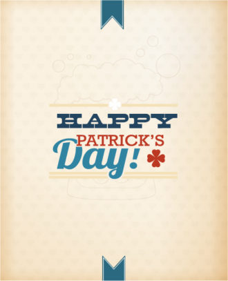 St. Patrick's day vector illustration with robbon Vector Illustrations floral