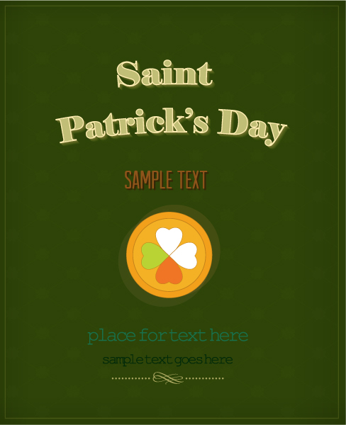 St. Patrick's day vector illustration with coins Vector Illustrations floral