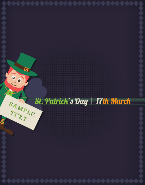 Surprising Holiday Vector Artwork: St. Patricks Day Vector Artwork Illustration With Leprechaun 2015 05 05 617