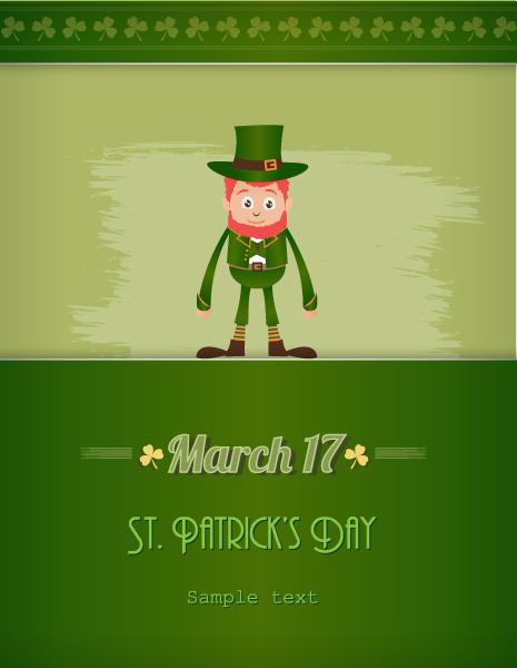 Insane Plant Vector Design: St. Patricks Day Vector Design Illustration With Leprechaun 5