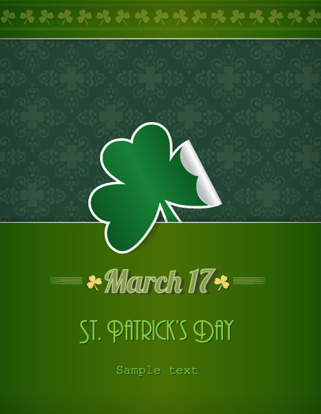 St. Patrick's day vector illustration with clover 2015 05 05 619