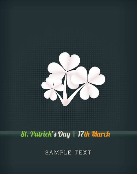 St. Patrick's day vector illustration with sticker clover 2015 05 05 622