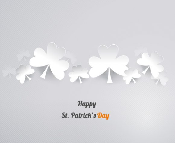 St. Patrick's day vector illustration with sticker clover 2015 05 05 630