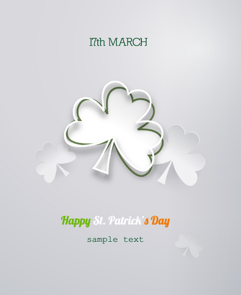 St. Patrick's day vector illustration with sticker clover 2015 05 05 632