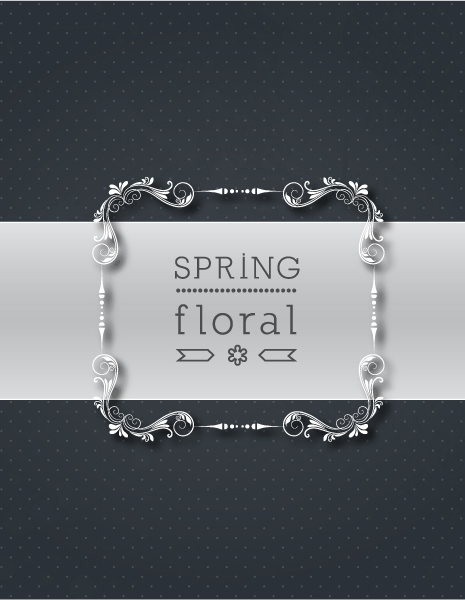 Floral Vector Artwork: Floral Vector Artwork Illustration With Floral Frame 1