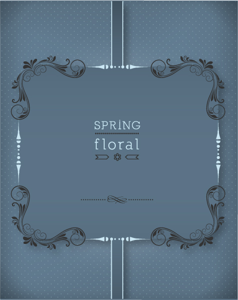 floral vector illustration with floral frame Vector Illustrations old