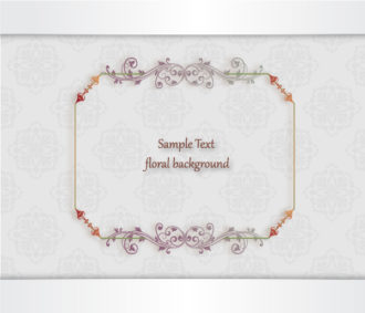 floral vector illustration with floral frame and floral background Vector Illustrations old