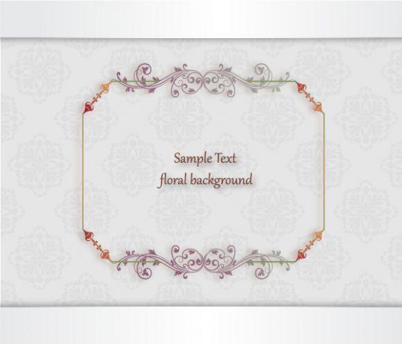 Flower, Floral, Illustration Vector Artwork Floral Vector Illustration  Floral Frame  Floral Background 1