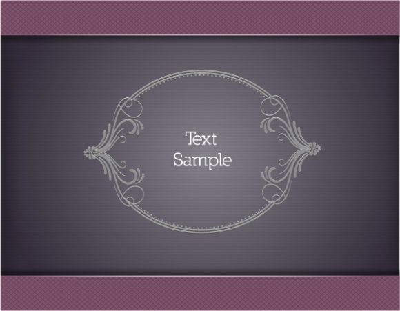 Exciting Floral Vector: Floral Vector Illustration With Floral Frame 1