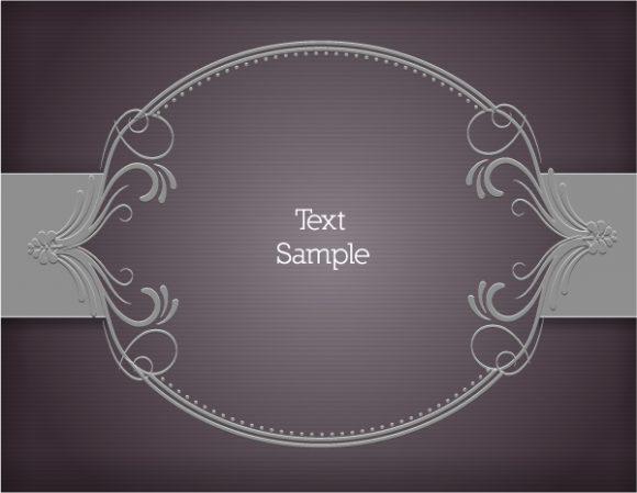 Invitation Vector Illustration: Floral Vector Illustration Illustration With Floral Frame 1