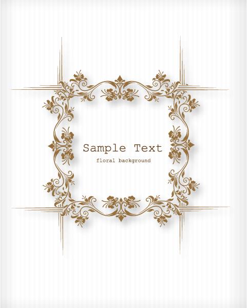 Old Vector Graphic Floral Vector Illustration  Floral Frame 1