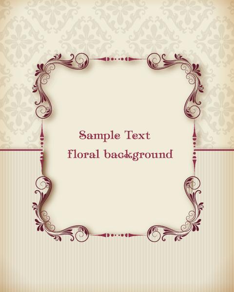 Trendy Invitation Vector Design: Floral Vector Design Illustration With Floral Frame 1
