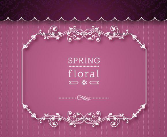 Floral, Frame Vector Floral Vector Illustration  Floral Frame 1