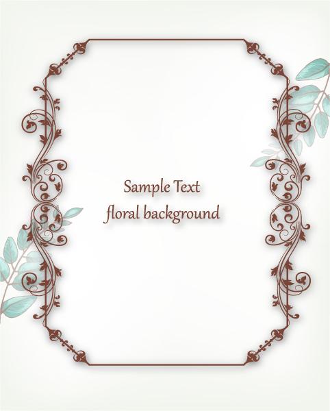 Old, Floral, Simple Vector Illustration Floral Vector Illustration  Floral Frame 1
