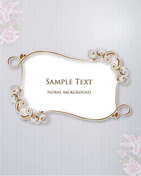 Surprising Invitation Vector Artwork: Floral Vector Artwork Illustration With Floral Frame 1