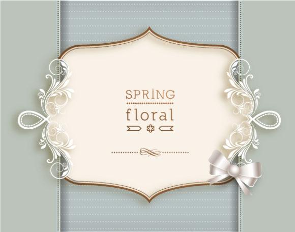 Illustration Vector Image Floral Vector Illustration  Floral Frame 1