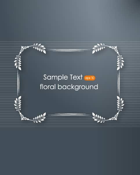 Floral Eps Vector: Floral Frame Eps Vector Illustration With Floral Frame 1