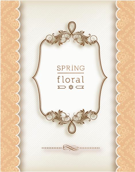 Surprising Frame Vector Art: Floral Frame Vector Art Illustration With Floral Frame 1