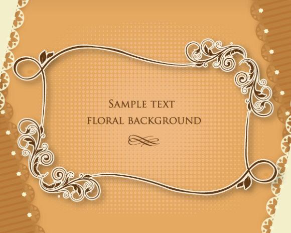 Unique Frame Vector: Floral Frame Vector Illustration With Floral Frame 2015 05 05 730