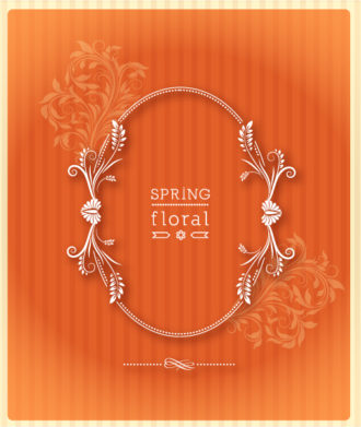 floral frame vector illustration with floral frame Vector Illustrations old