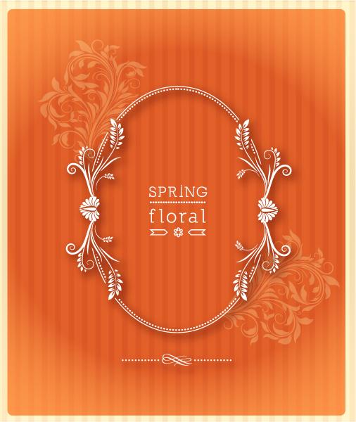 Gorgeous Floral Eps Vector: Floral Frame Eps Vector Illustration With Floral Frame 1