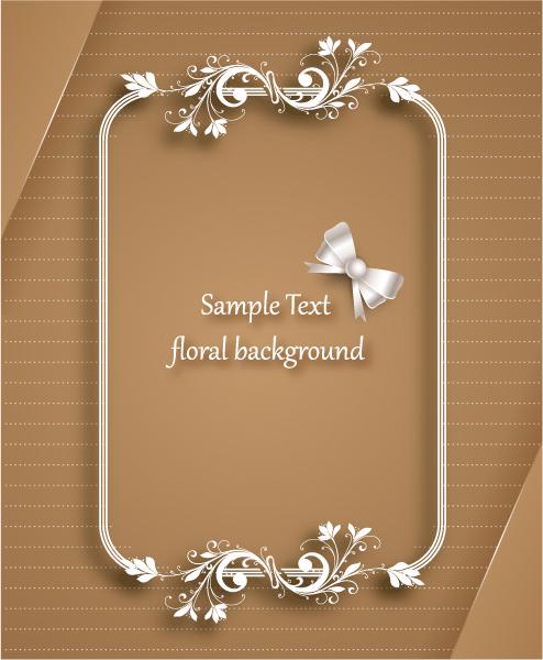 Brilliant Beautiful Vector Art: Floral Frame Vector Art Illustration With Floral Frame 5