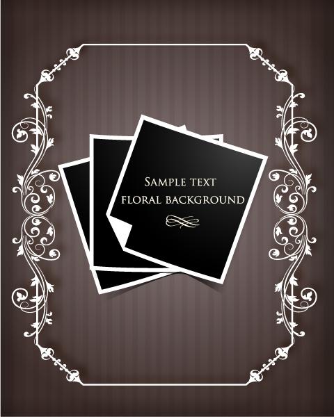 Unique Frame Vector Illustration: Floral Frame Vector Illustration Illustration With Floral Frame 1