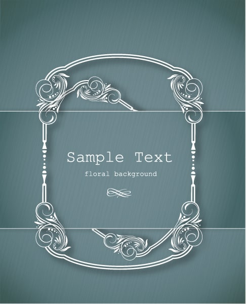 Floral, Illustration, Frame, Text Vector Graphic Floral Frame Vector Illustration  Floral Frame 2015 05 05 764